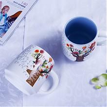 松发情侣陶瓷杯2个
