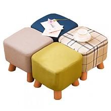 家逸实木布艺家用小沙发