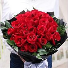 御见红白玫瑰花束33朵