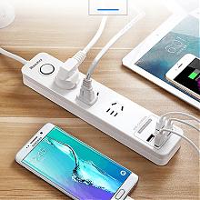 航嘉智能4孔USB插座排插