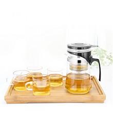 荣标玻璃过滤泡茶壶茶杯