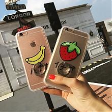 囧囧熊iphone7/6s手机壳带指环