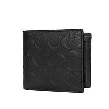 蔻驰 男士黑色短款钱包