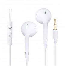 纽曼 全兼容线控耳机 白色