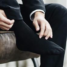 精梳棉双针休闲男袜白色6双