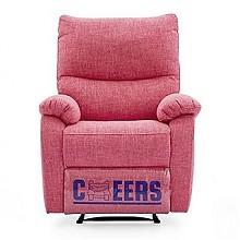 芝华仕 K106 单人头等舱布艺功能沙发  玫瑰粉