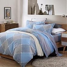 博洋家纺双人加大高支全棉印花床单四件套-蓝调之夜 1.8m床
