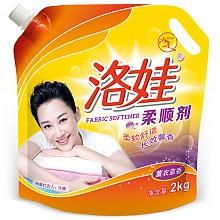 【京东超市】洛娃薰衣草香柔顺剂2kg补充袋装 *6件