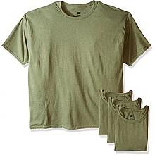 恒适男士T恤4件装墨绿色M/L码