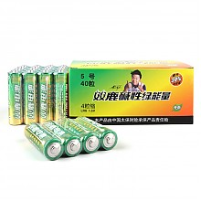 双鹿5号碱性电池40粒装