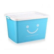 60L*3只东方亮洁炫彩笑脸塑料收纳箱