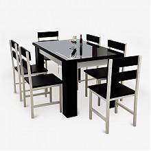 雅美乐 YCZ806 钢化玻璃餐桌