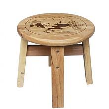 禧乐菲 实木小圆凳