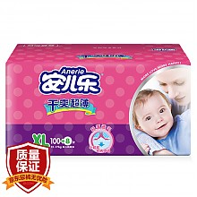 安儿乐 干爽超薄 婴儿纸尿裤 XL108片 *4件