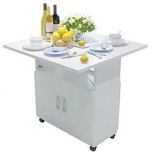 哈骆顿带柜轮折叠餐桌