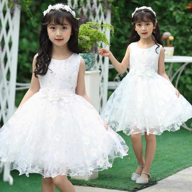 女童公主蕾丝连衣裙