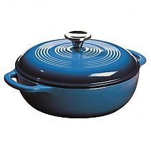 Prime会员:洛奇 搪瓷铸铁荷兰煮锅 3夸脱