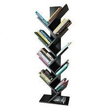 新低价:一米色彩 创意树型书架9层
