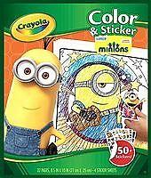 Crayola小黄人填色贴纸画册