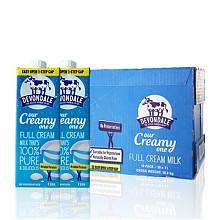 德运 全脂纯牛奶1L*10盒