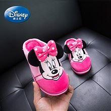 迪士尼新款冬季亲子棉拖鞋