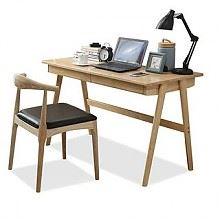 一米色彩 北欧风格实木书桌 1.2m+椅子