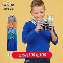 七匹狼童装男童纯棉长袖t恤
