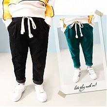 布加格儿童灯芯绒长裤