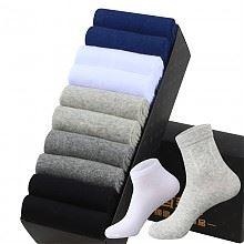 瓦莱纳中厚款男士中筒运动防臭纯色棉袜 10双