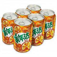 美年达 橙味碳酸饮料330ml*6听+维他柠檬茶125ml*4盒
