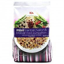 ICA 混合水果麦片3种口味共6袋