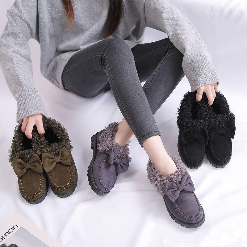 【中情鸟】加厚雪地靴加棉毛毛鞋