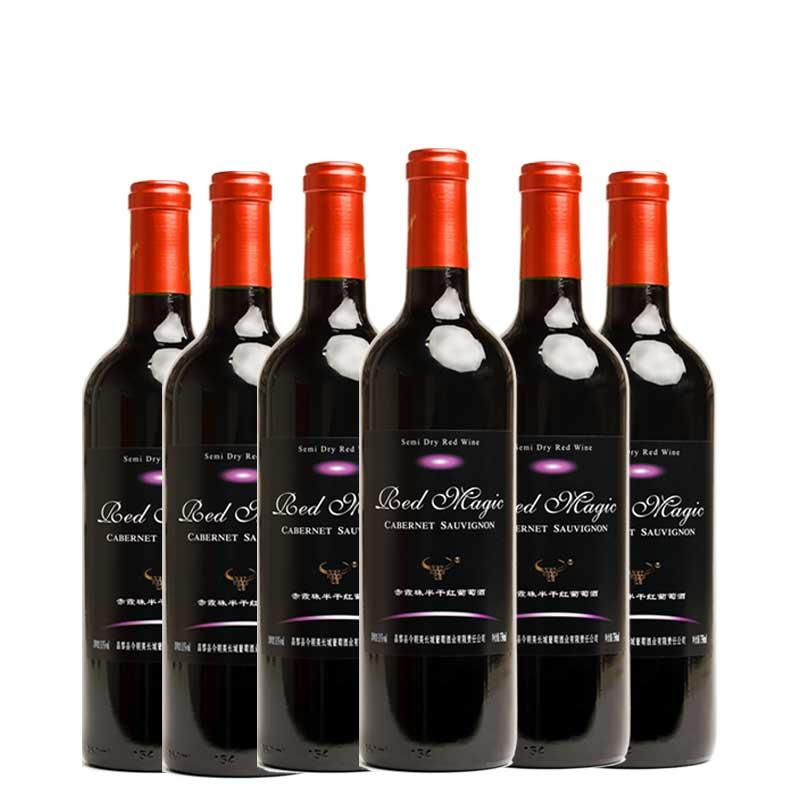 红魔 半干红葡萄酒750ml*6支