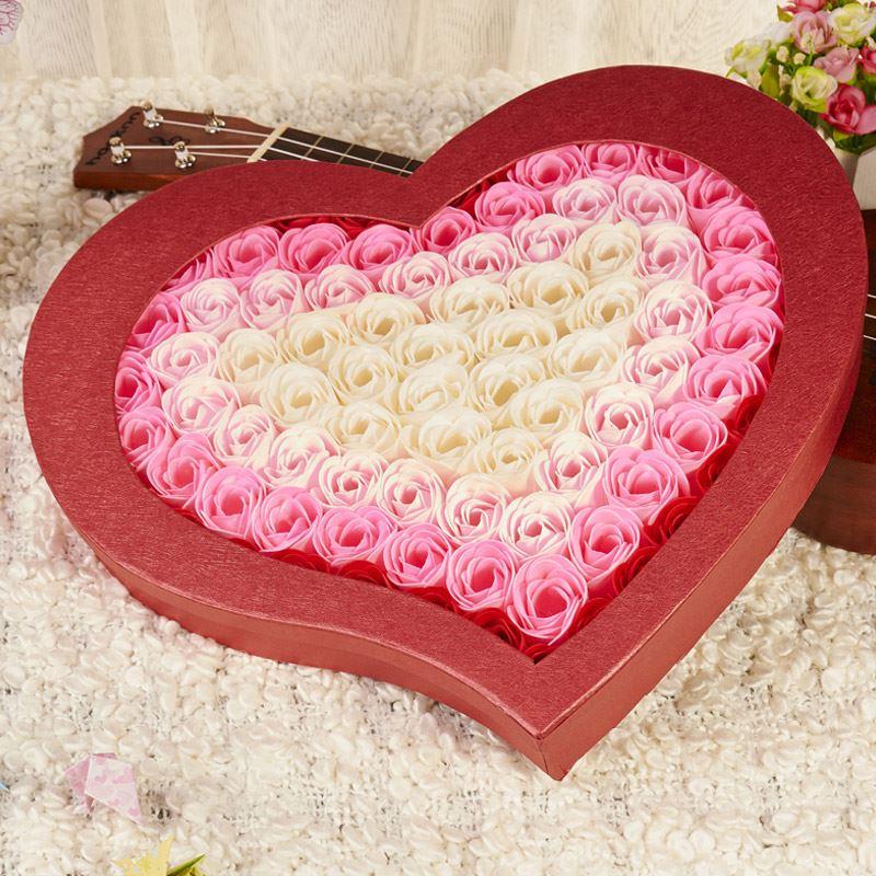 紫蒲玫瑰香皂花礼盒100朵