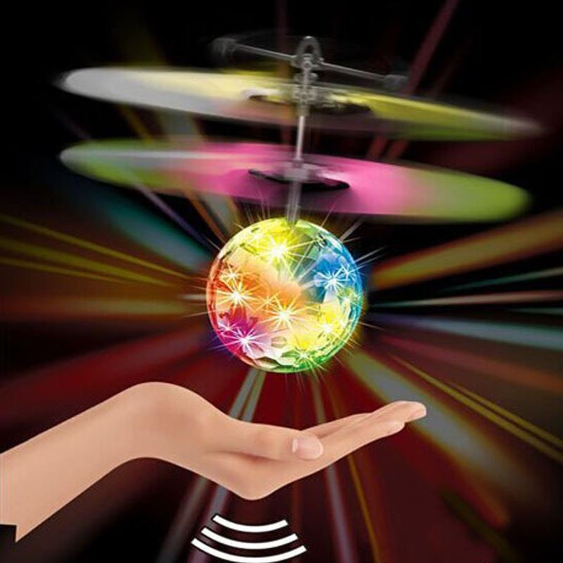 发光水晶球小黄人感应飞行器玩具