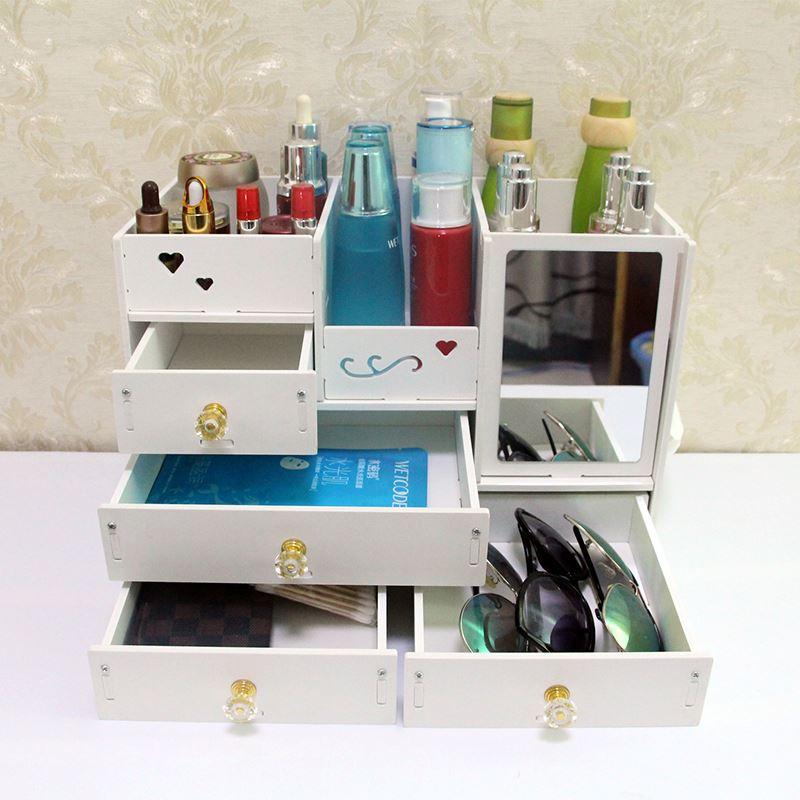家用抽屉式化妆品收纳整理盒