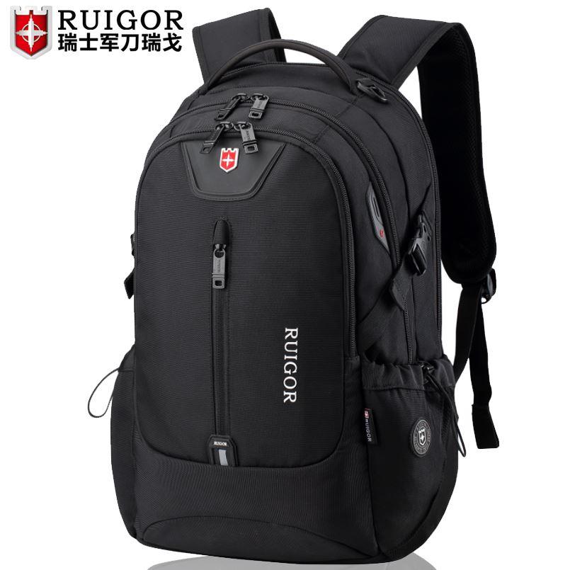 瑞戈男士大容量双肩包学生书包