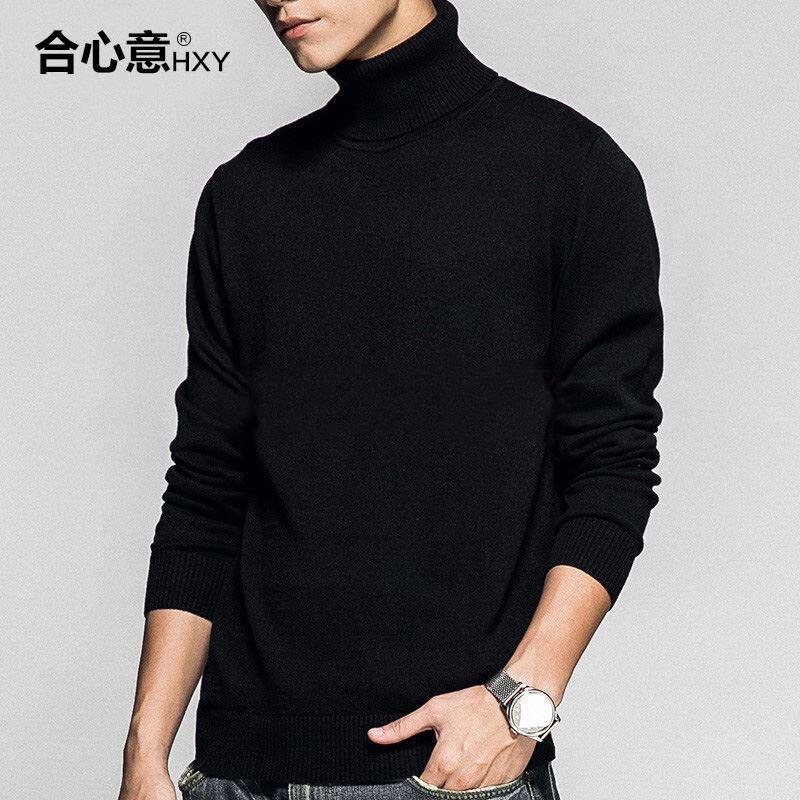 黑色高领毛衣男装打底衫